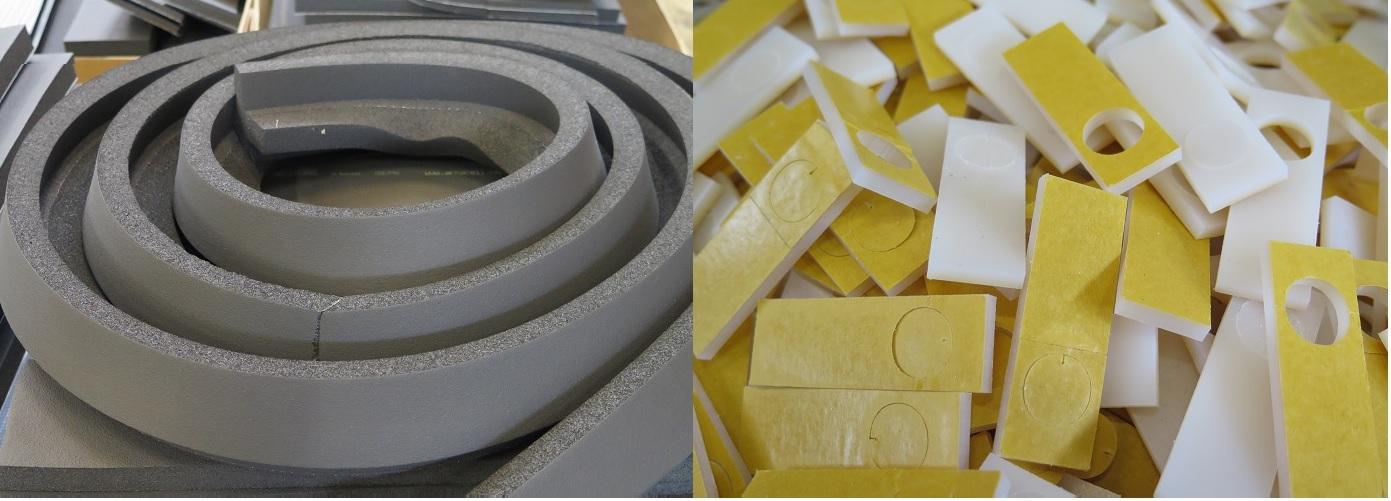 Leikkaa pehmeitä ja huokoisia materiaaleja mittatarkasti